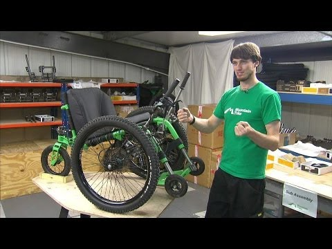 Off-Road Chair Uses Bike Components