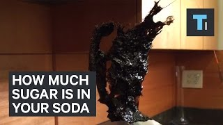 We boiled soda to see how much sugar is inside