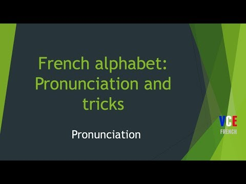 The French Alphabet - Pronunciation and tricks