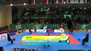 kamilia manel hadj said championne d arabe 2011 qatar battant en final l egyptienne sarah aly