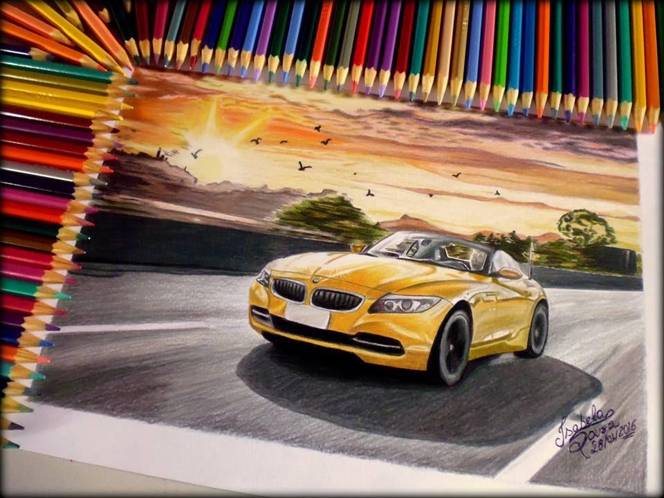 Bmw Z4 Speed Drawing Desenhando Bmw Z4 Youtube