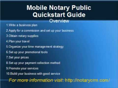 Mobile Notary Public Quickstart Guide 1 Overview