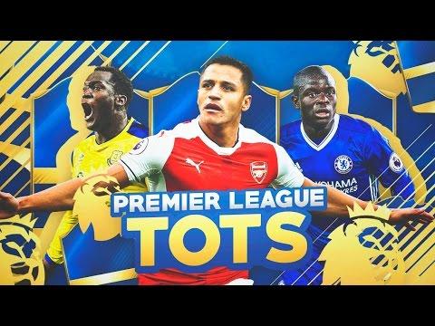 LOS TOTS DE LA PREMIER LEAGUE!!!!!   ALEXIS, LUKAKU, KANTÉ & MÁS   FIFA 17 TEAM OF THE SEASON
