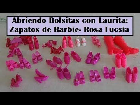 cda114749 Abriendo Bolsitas con Laurita: Zapatos de Barbie - Rosa Fucsia - YouTube