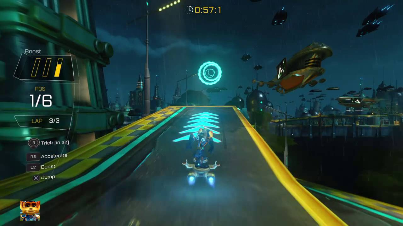 Ratchet & Clank PS4 - Rilgar Hoverboard race in 1:20.614 - YouTube