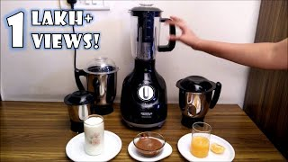 Maharaja Whiteline Mixer Grinder - How to use Blender Jar for Juicing, Pulp Extraction and Blending