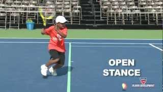 10 and Under Tennis Lesson | 60 Orange Forehand Footwork