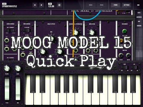 Moog Model 15 - ON SALE - Quick Play Demo for the iPad