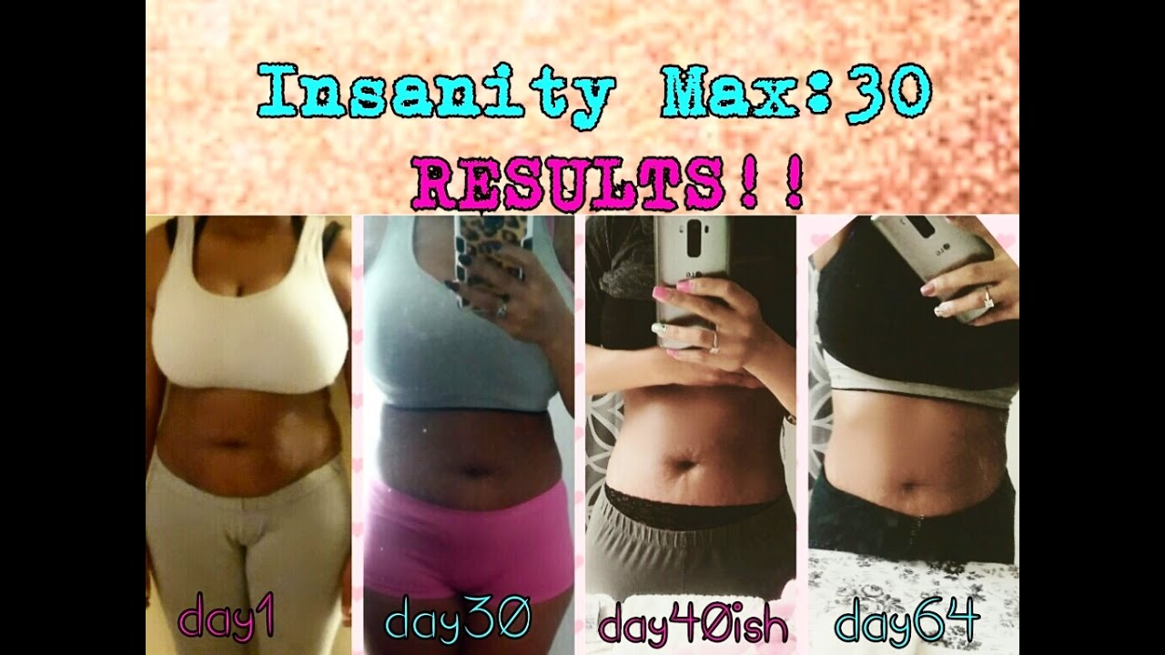 How I just lost over 20lbs !! || Insanity max:30 round 1 month 2 results