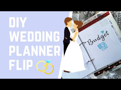 DIY Wedding Planner Flip | Planner Kawin | Skippyskittle, Married?!