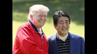 Trump and Abe play golf amid US-Japan trade tensions