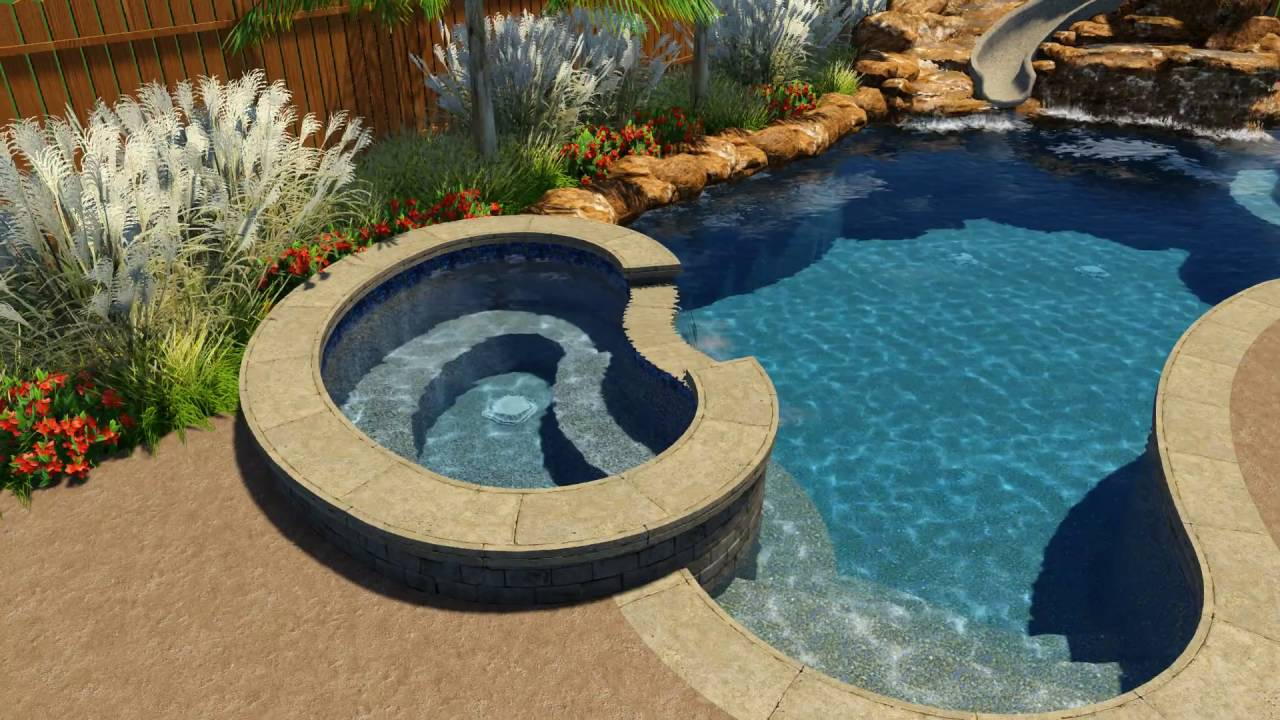 Fuehrmann Pool Design by Backyard Amenities - YouTube
