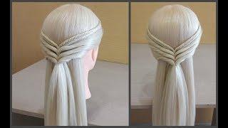 """Прическа в""""Греческом Стиле""""Просто сделать самой себе.Hairstyle in the""""Greek Style""""Just make yourself"""