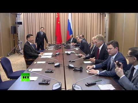 Путин пошутил про опаздывающую делегацию Китая на встрече с Си Цзиньпином