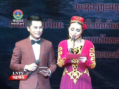 Lao NEWS on LNTV: China's Xinjiang Culture Week.13/10/2016