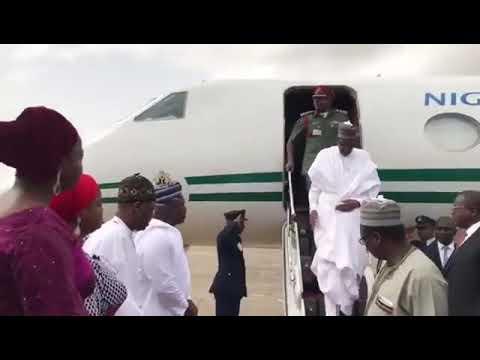 President Buhari Visits The Ikeja Bus Terminal In Lagos  (Photos & Video)