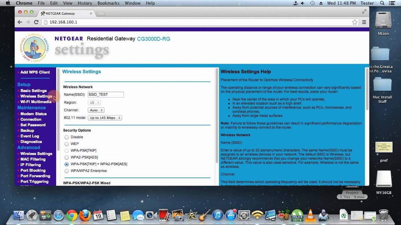 Disable Wireless feature Removed from Cox Cable Modem/Router: Netgear  Gateway CG3000D
