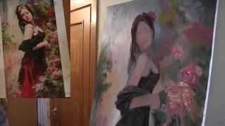 Урок живописи от Игоря Сахарова , научиться писать картины маслом