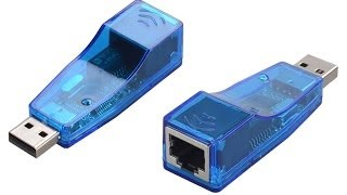 Adaptador USB a LAN (RJ45) [Chip RD9700] Unboxing