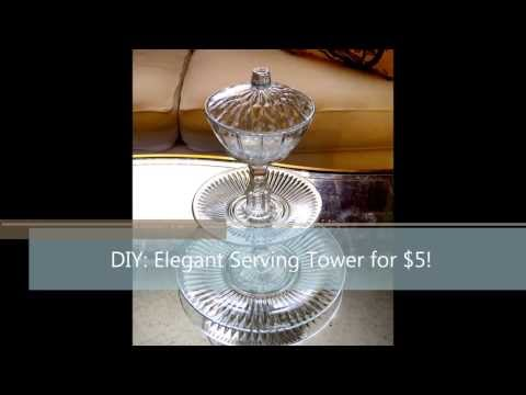 How to make a serving tower for $5- food display for parties