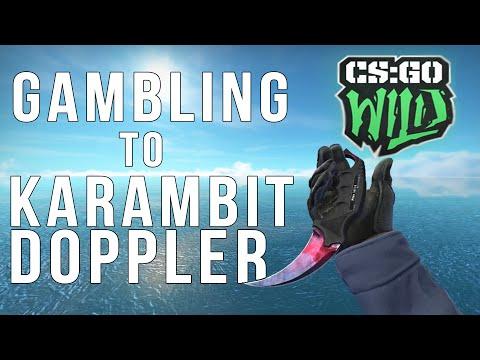 Gambling To A Karambit Doppler (CSGO Wild Gambling)