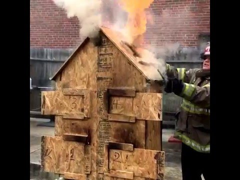 Doll House fire behavior, Birmingham Fire and Rescue