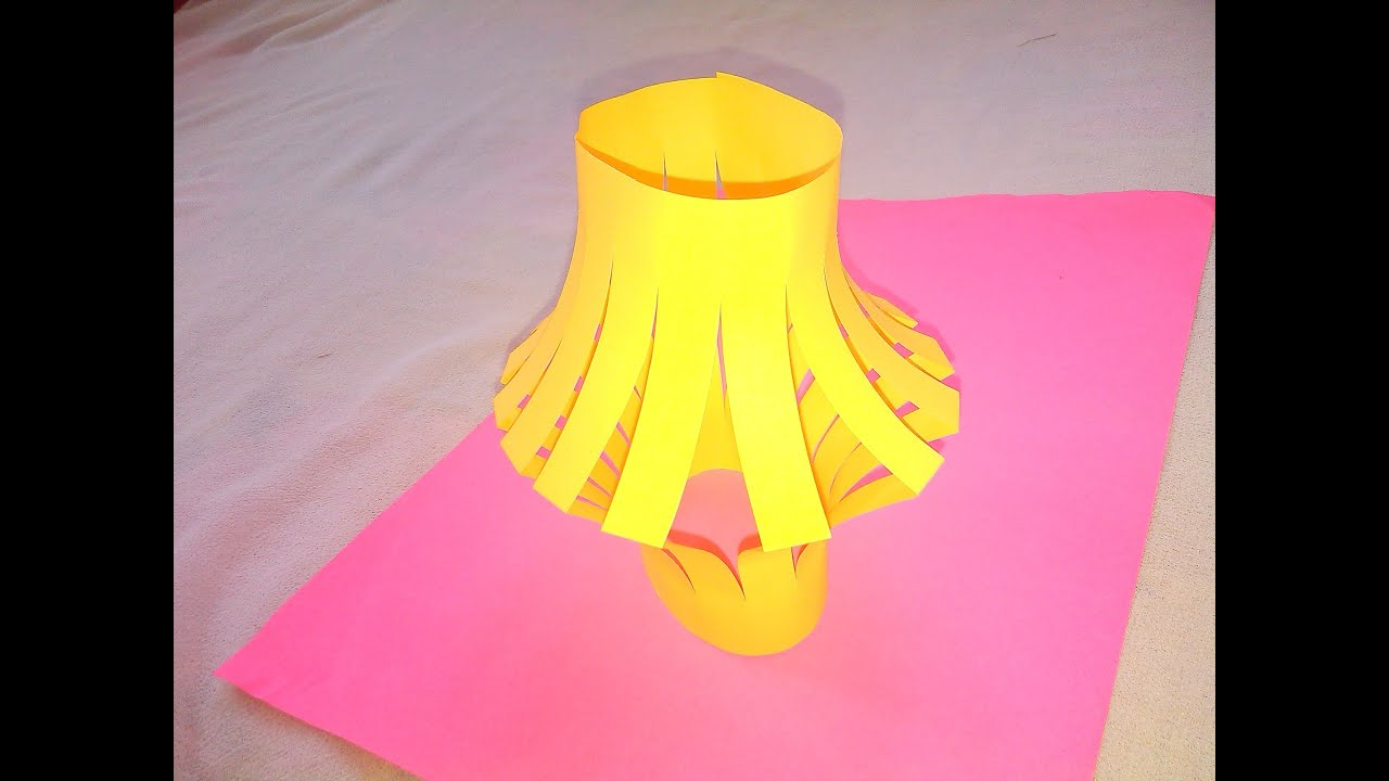 Lamp shade origami paper crafts for kids youtube jeuxipadfo Gallery