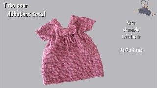 Tuto tricot pour débutant total : Chasuble pour bébé