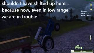 Farming Simulator 2013 - MoreRealistic mod -  Ford 7000 with a manual gearbox