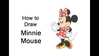 How to Draw Minnie Mouse (Full Body)