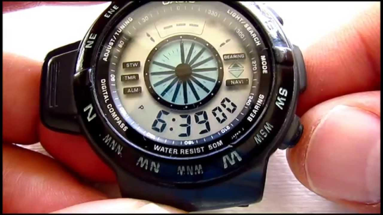Casio Vintage Casio Cpw 100 Digital Compass - Youtube