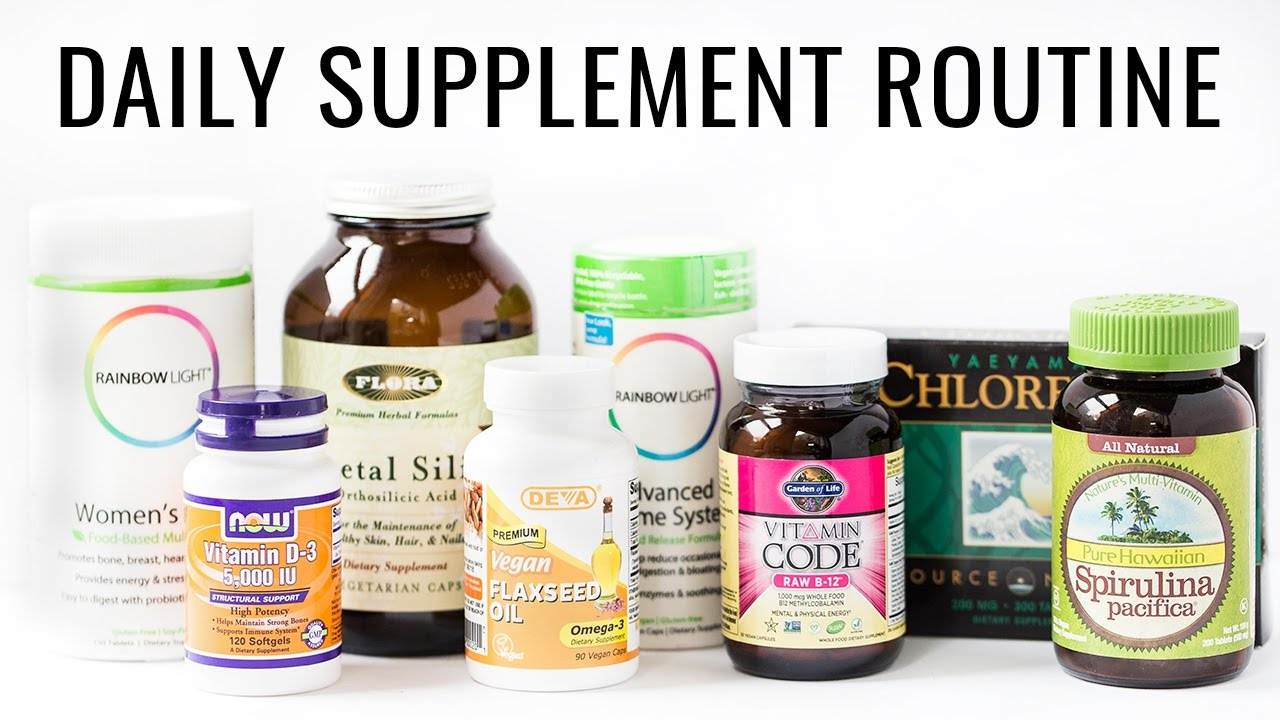 MY DAILY SUPPLEMENT ROUTINE | for a plant-based diet