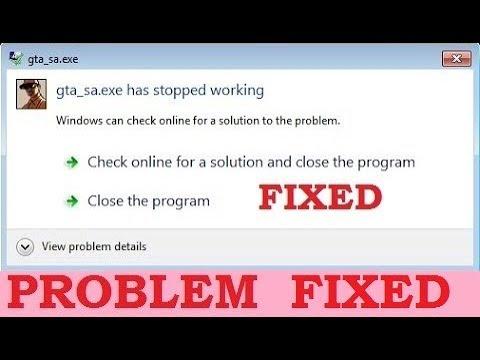gta san andreas windows application error