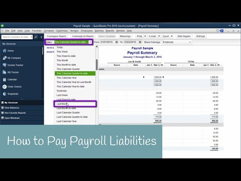 How to Pay Payroll Liabilites in QuickBooks
