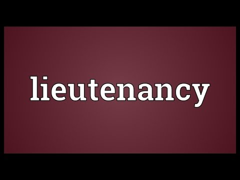 Lieutenancy Meaning