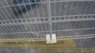 Забор секционный РУБЕЖ RAL9006 монтаж(, 2015-01-29T07:54:51.000Z)