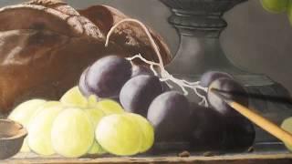 Рисуем виноград в серебряной вазе (видео 5) -  мастер класс - уроки рисования