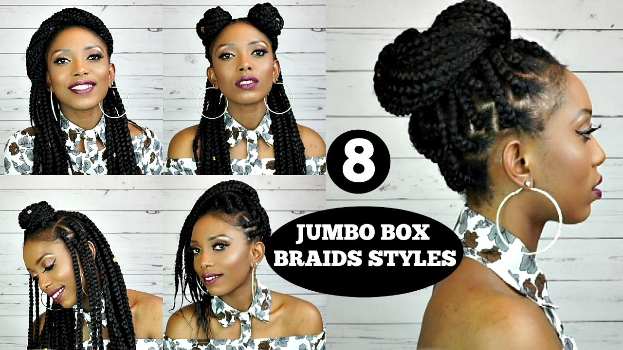 Styling Box Braids 6 Simple And Elegant Styles Youtube