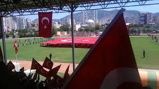 Adana kozan mesleki ve teknik anadolu lisesi 19 mayis bayrak gösterisi 19:05:2018