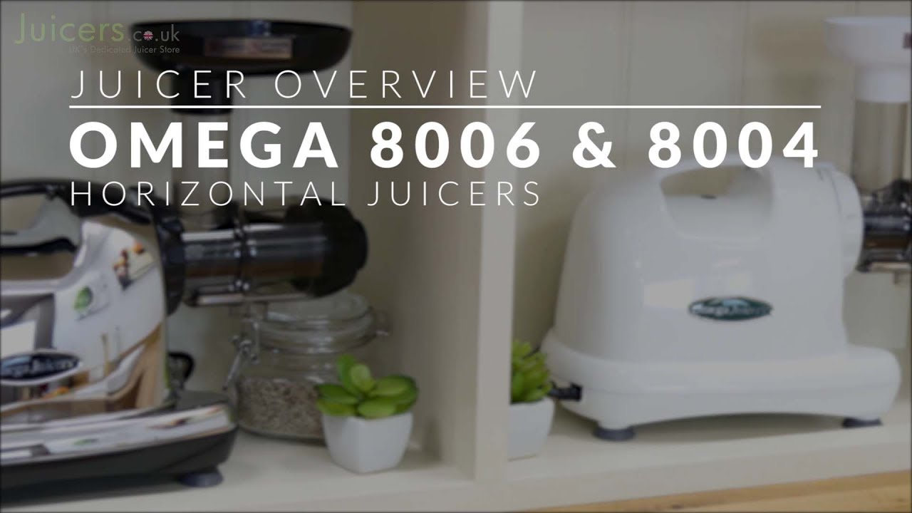 Omega 8006 Juicer and Nutrition Centre in Chrome
