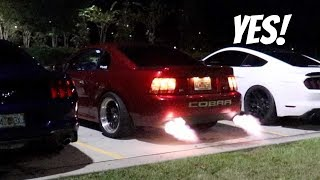 Will the 700RWHP E85 Cobra Shoot Flames on the 2 Step??