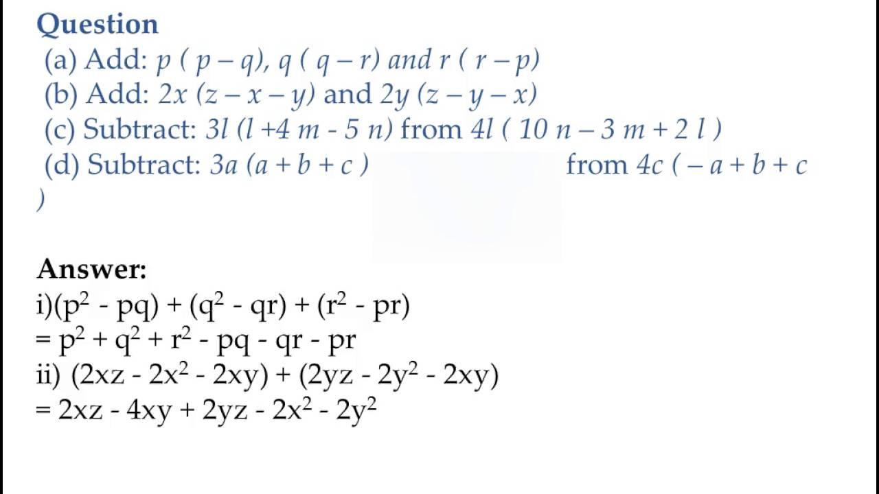 medium resolution of Algebraic Expressions and Identities notes Class 8 CBSE