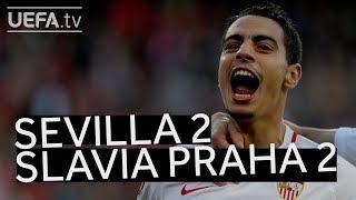 SEVILLA 2-2 SLAVIA PRAHA #UEL HIGHLIGHTS