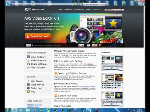 AVS4You 6.1 Free Video Editing Software Download Tutorial