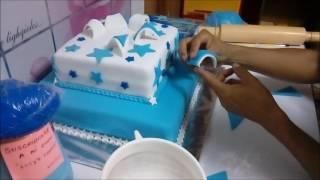 Cómo decorar torta para bautizo/ Lucy´s Cakes
