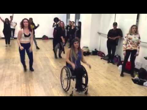 Chelsie Hill- Taking a dance class!