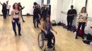 Chelsie Hill- Taking a dance class!