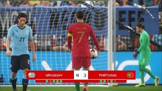 Uruguay vs Portugal I Round of 16 FIFA World Cup 2018 I PES 2018 Penalty Shootout