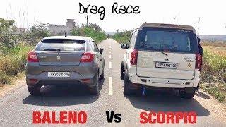 Tagdi Race: Baleno Vs Scorpio | Mahindra ka Kaat Diya 😁 Video