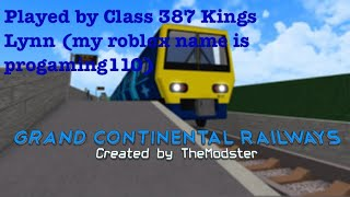 GCR roblox train/level crossing/station spotting